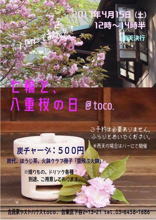 七輪と八重桜の日2017_2_1